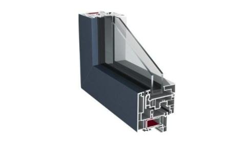 cadre aluminium de la fenetre