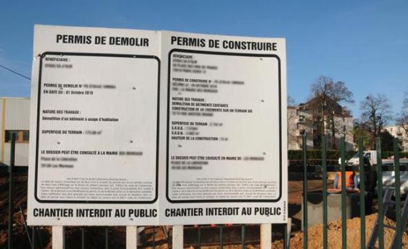 affiche permis de construire