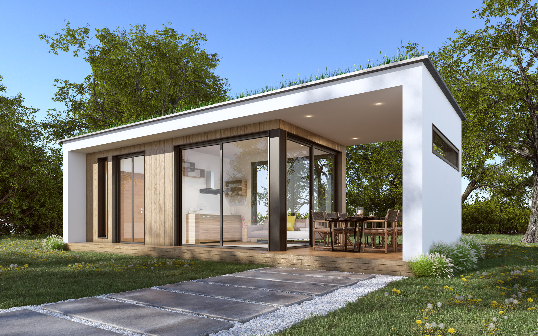 grand studio de jardin 20m avec terrasse