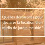 location studio jardin meuble